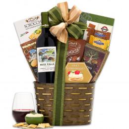 Rock Falls Vineyards Cabernet Wine Basket