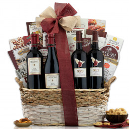 Napa Valley and Sonoma Red Wine Gift Basket