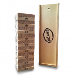 Custom Engraved Tumbling Tower Game in Wooden Box 12''