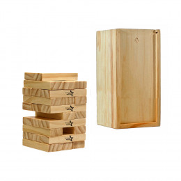 Custom Engraved Short Stack Tumbling Tower in Wood Box