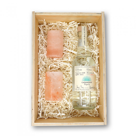 Casamigo Blanco 375ml and Himalayan Salt Shot Glass Gift Set