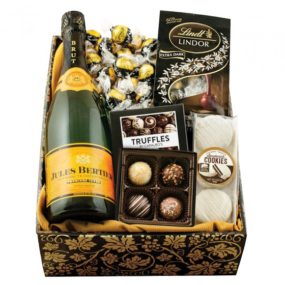 Champagne & Truffles Gift Box