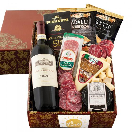 Buona Vita Italian Vino & Antipasto Gift Box - Get Well