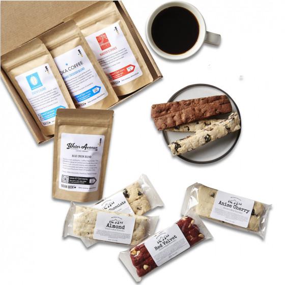 Standard Coffee and Biscotti Tasting Box