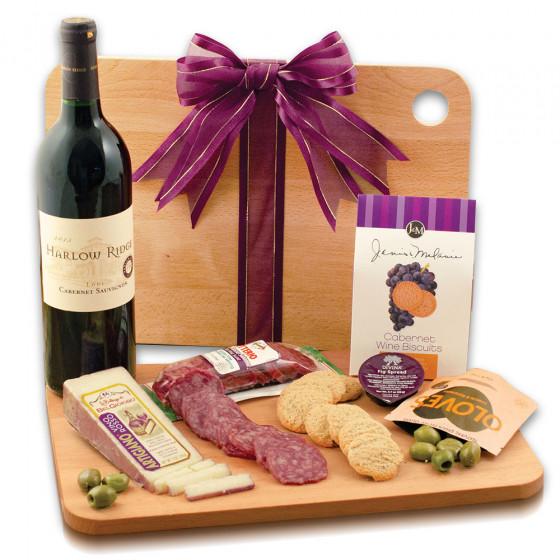 Cutting Edge Wine & Cheese Board Gift