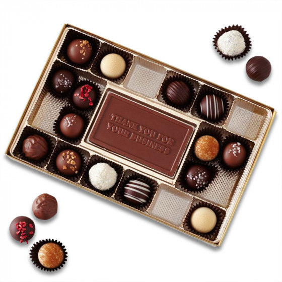 Chocolate Business Card and Truffle Assortment