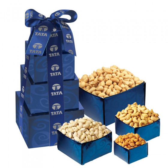 Nutty Snacks Gift Tower