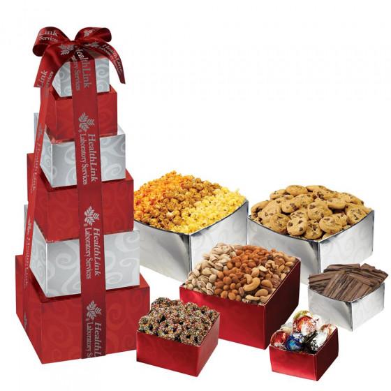 Corporate Crowd Pleaser Gourmet Food Gift Tower