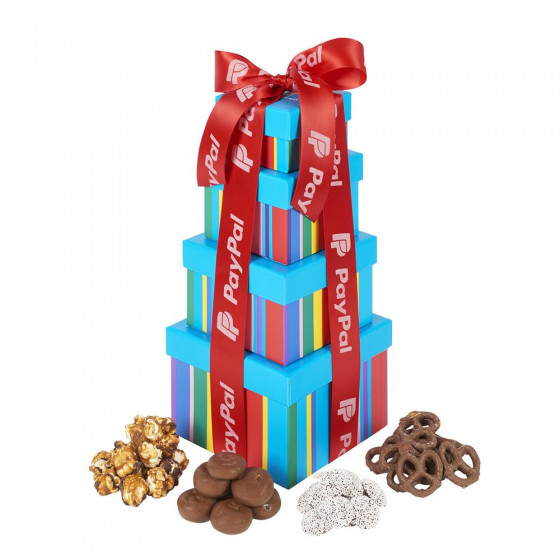 Dylan's Sweet Chocolate Mix Treat Towers with Custom Ribbon