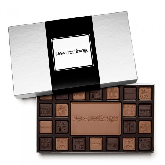 45 Piece Custom Milk and Dark Chocolate Squares