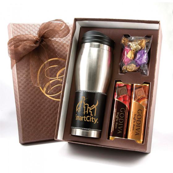 Custom Godiva Tumbler Gift Set