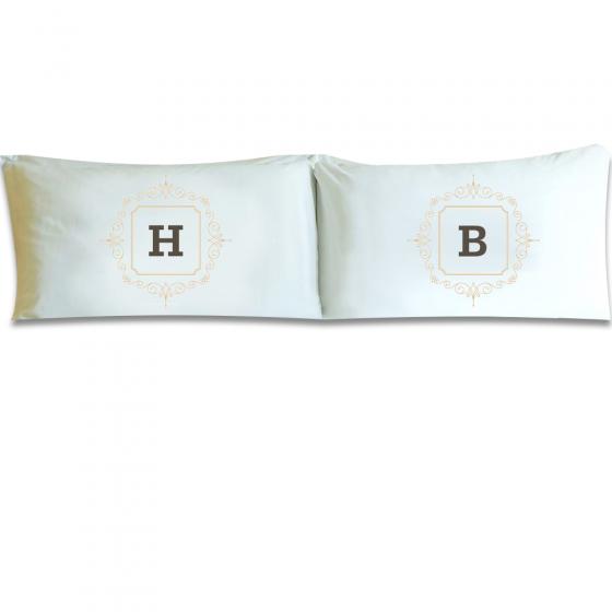Personalized Initial Motif Pillowcase Set