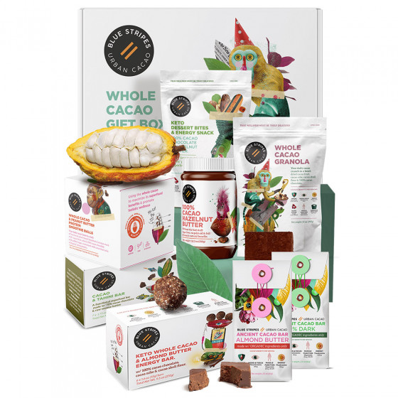 Chocolate Gourmet Lovers Gift Box by Blue Stripes Urban Cacao
