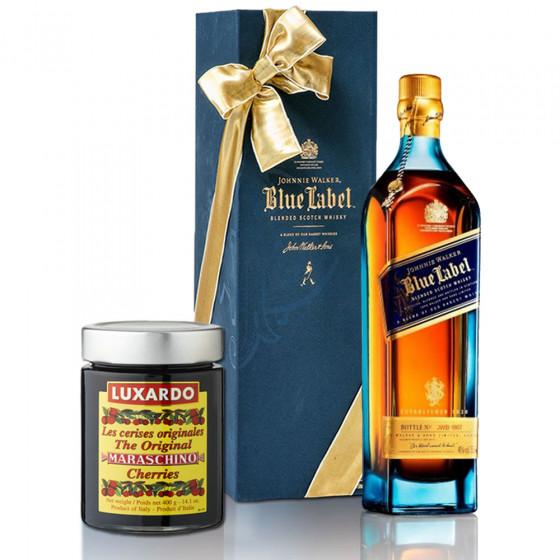 Johnnie Walker Blue 750ml Scotch and Cherries Gift Set