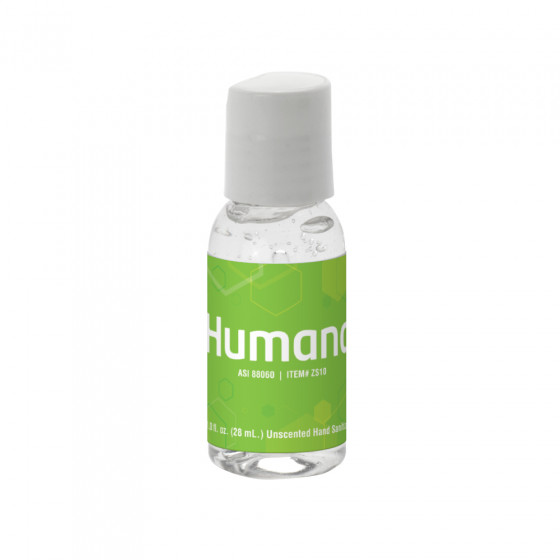 Custom 1 oz. Clear Sanitizer in Round Bottle