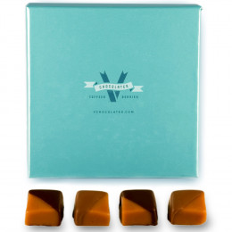 V Chocolate 2 LB Chocolate Caramels gift