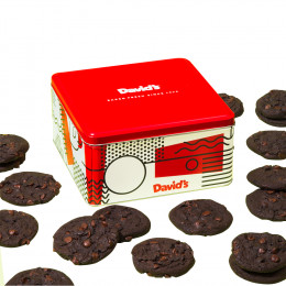 David's Cookies Fresh Baked Double Chocolate Chunk Cookies - 1lb or 2lb