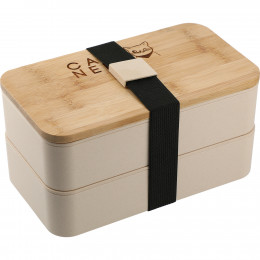 Custom Bamboo Bento Box w/Built-In Utensils