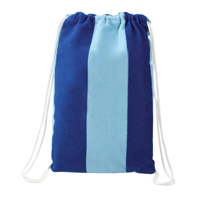 Custom Microfiber Beach Blanket with Drawstring Pouch