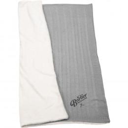 Custom Field & Co.® Cable Knit Sherpa Blanket