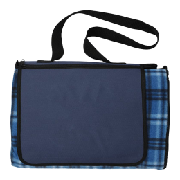 Custom Extra Large Plaid Picnic Blanket Tote