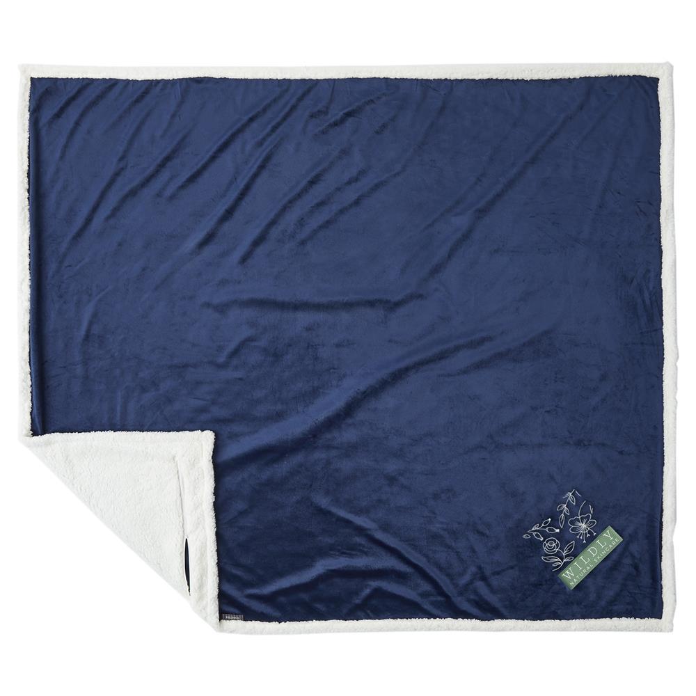 Custom Field & Co. 100% Recycled PET Sherpa Blanket