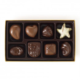 Godiva Assorted Chocolate Gold Gift Box Holiday Ribbon 8 pc.