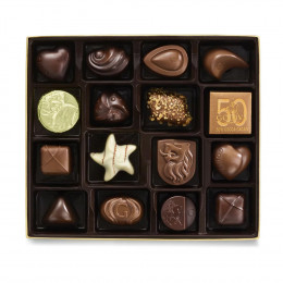 Godiva Assorted Chocolate Gold Gift Box, Holiday Ribbon, 19 pc.