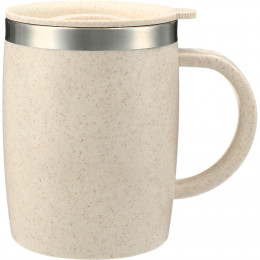 Custom Dagon 14 oz. Wheat Straw Mug with Lid and Stainless Liner