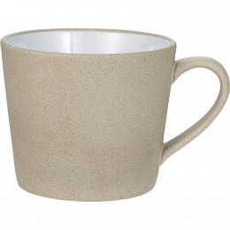 Custom Cotto 11 oz. Ceramic Mug with White Glaze Detail