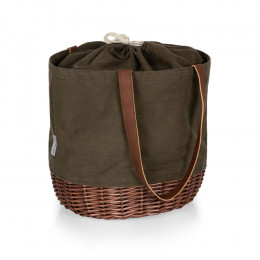 Custom Coronado Canvas and Willow Basket Tote