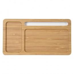 Custom Bamboo Desktop Organizer Wireless Charging Pad