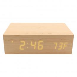 Custom Alarm Clock Charging Station, Power Bank and Wireless Speaker
