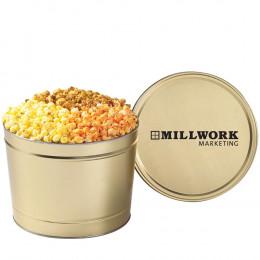 3-Flavored Gourmet Popcorn Tin - 2 Gallon