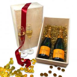 Duo Veuve Clicquot Champagne 750ml Gift Set
