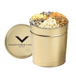 6-Flavored Gourmet Popcorn Tin - 3.5 Gallon