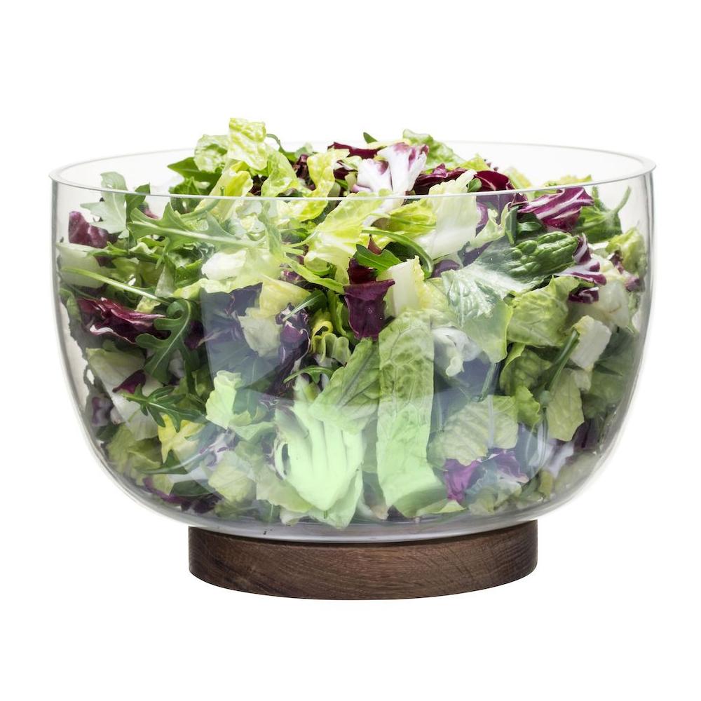 Nature Salad Bowh with Oak Trivet