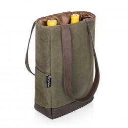 Custom 2 Bottle Insulated Wine Cooler Bag