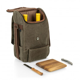 Custom 2 Bottle Insulated Wine & Cheese Cooler Bag