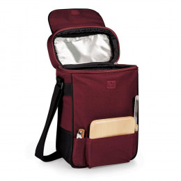 Custom Duet Insulated Two-Bottle Wine and Cheese Tote