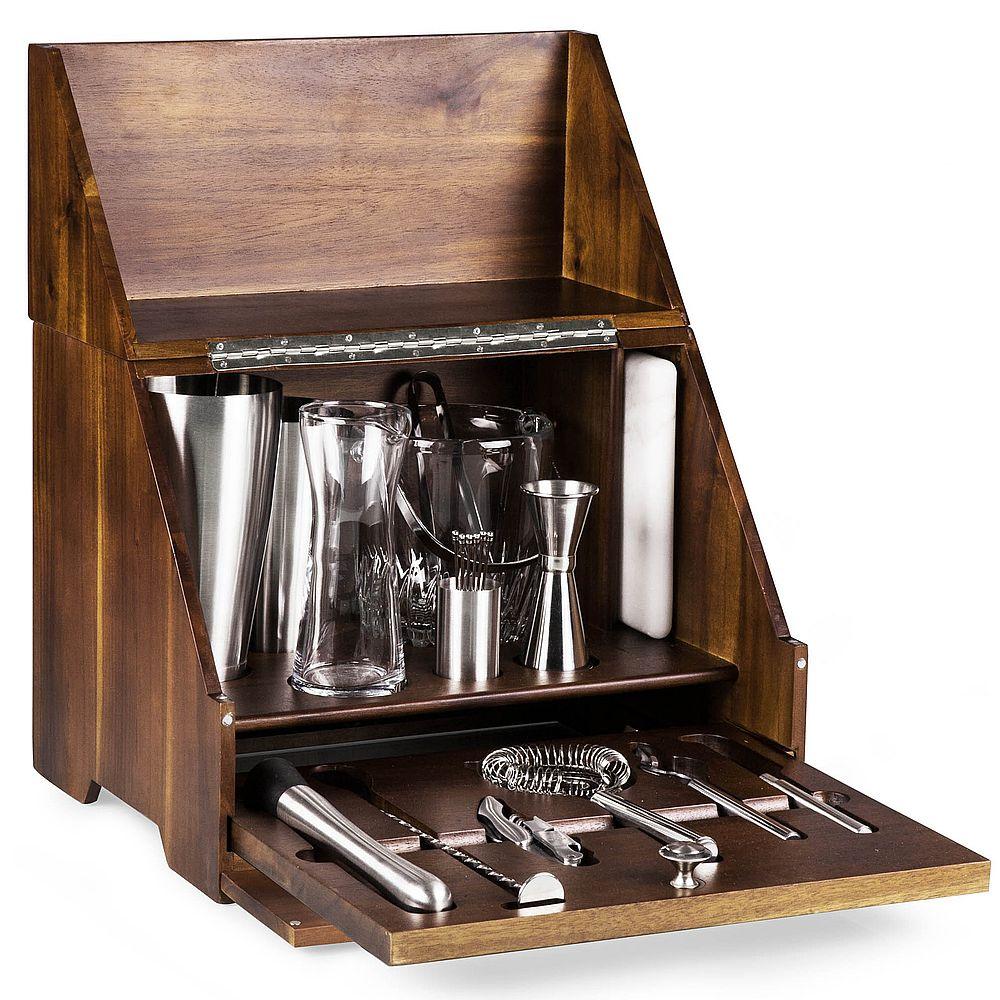Madison Acacia Tabletop Bar Set