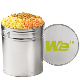 3-Flavored Gourmet Popcorn Tin - 6.5 Gallon