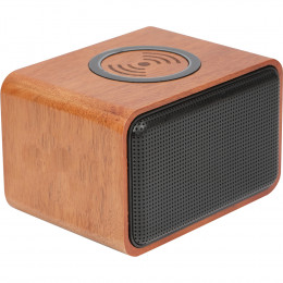 Custom Wood Bluetooth Speaker with Wireless Charging Pad