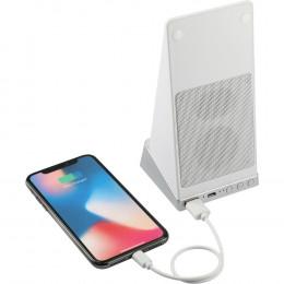 Custom Weston Wireless Charging Power Bank Stand with Speaker