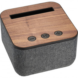 Custom Wood and Fabric Bluetooth Speaker w/Built-In Microphone