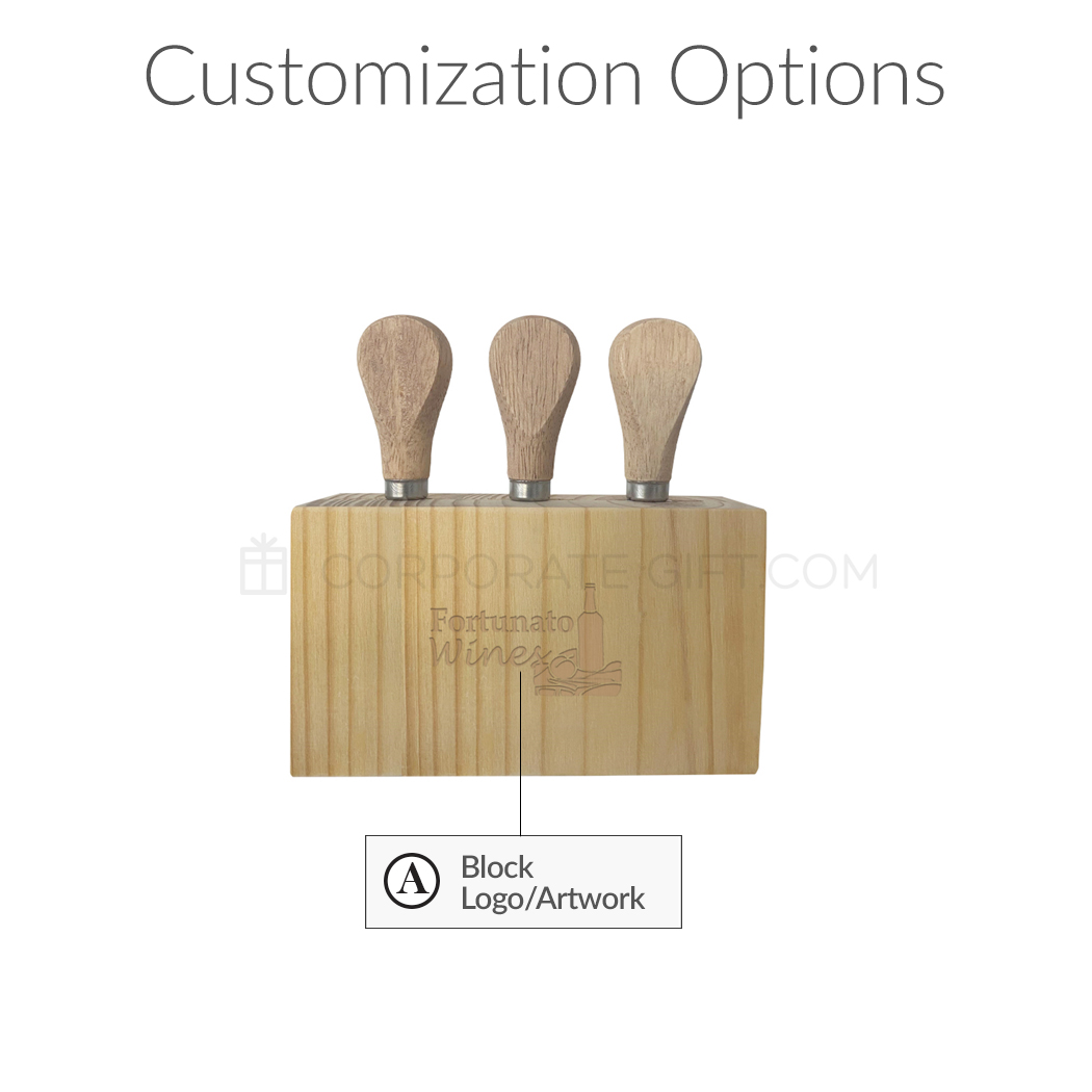 Custom 3-Piece Cheese Cutlery Set