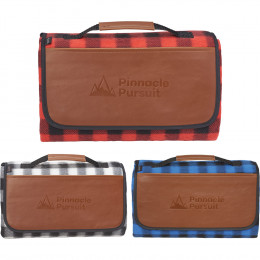 Custom Field & Co.® Buffalo Plaid Padded Picnic Blanket