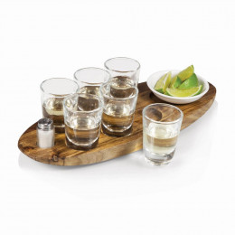 Custom Engrave Cantinero 6 Shot Serving Tray