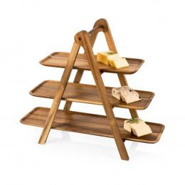 Custom Engrave Acacia Serving Ladder