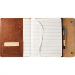 Customized Alternative® Leather Journal - Refillable with 80 Notebook Pages